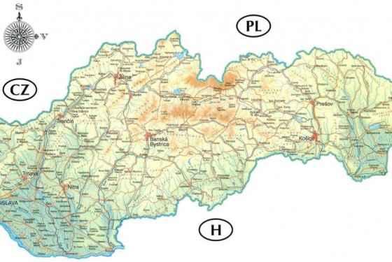 Mapa Słowacji