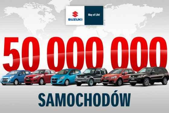 50 milionów samochodów Suzuki