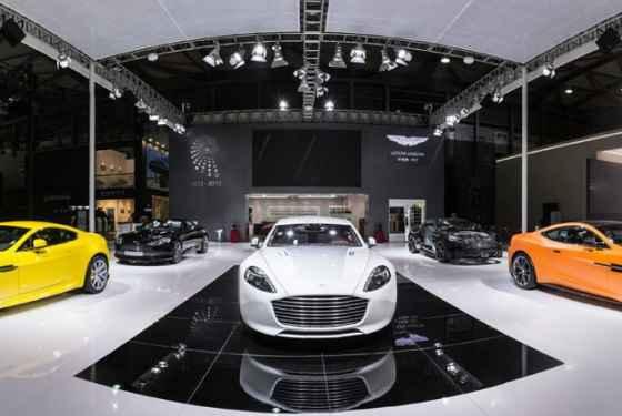 Aston Martin na salonie w Szanghaju