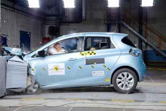 Najnowsze wyniki crash testów - Renault ZOE