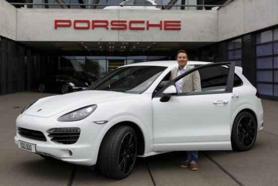 Porsche Cayenne z numerem 500 000