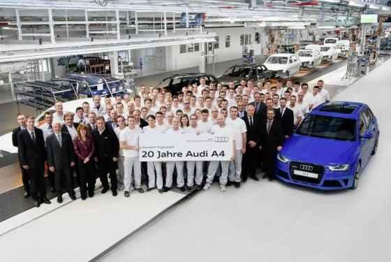 Jubileusz 20-letniej produkcji Audi A4 w fabryce w Ingolstadt