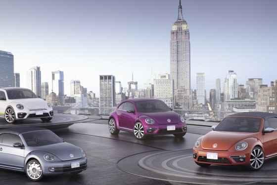 Cztery koncepcyjne Volkswageny Beetle w Nowym Jorku