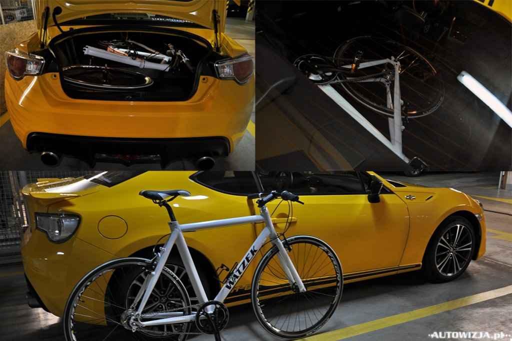 Toyota GT86 i rower Wacek