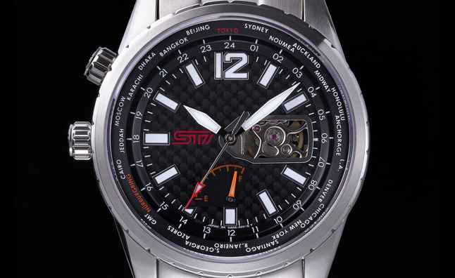 Zegarek Subaru STi. Źródło zdjęcia: www.autoguide.com