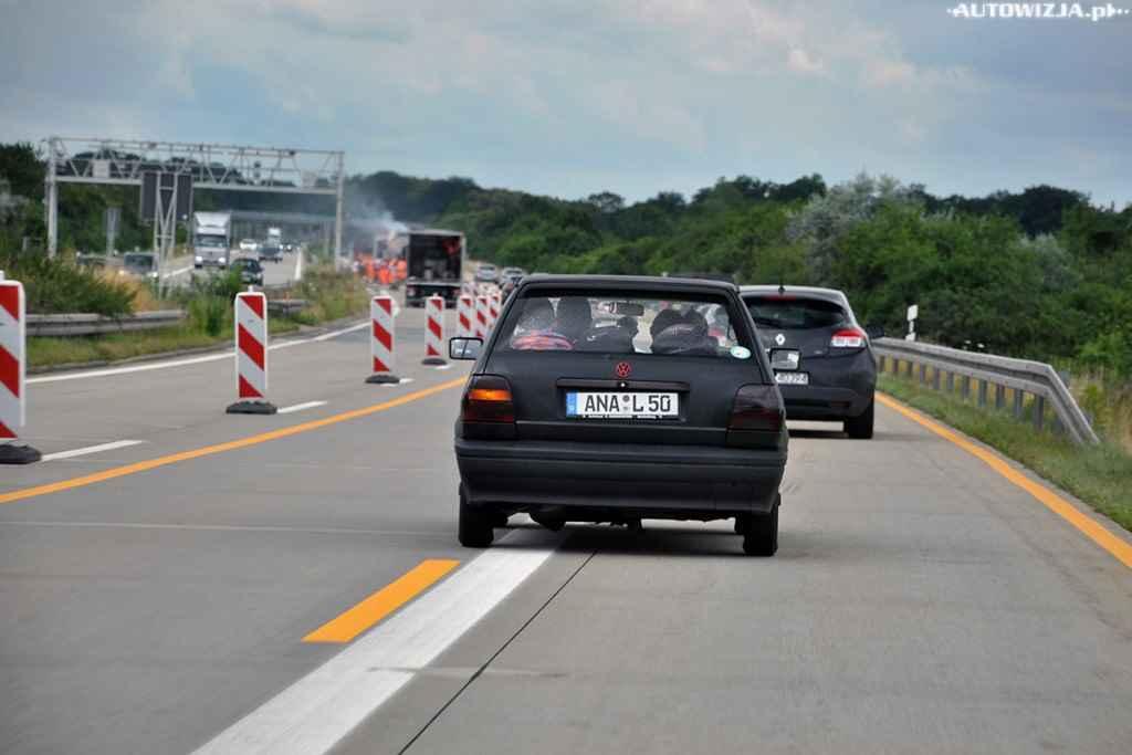 Niemieckie autostrady są niestety bardzo często remontowane...