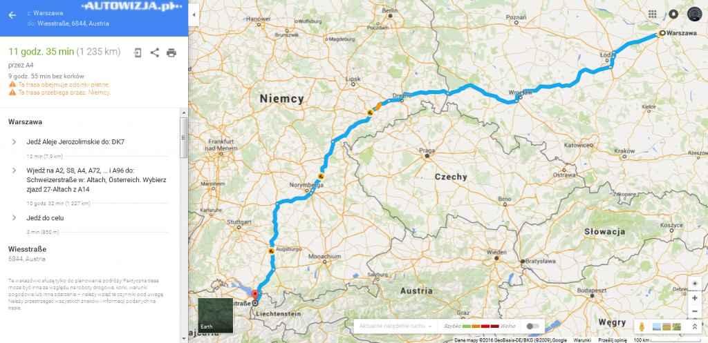 Pierwszy cel do oddalone o 1200 km Alpy!
