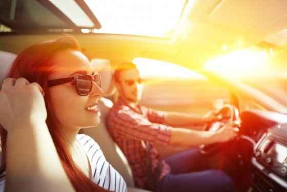 Jazda samochodem, lato