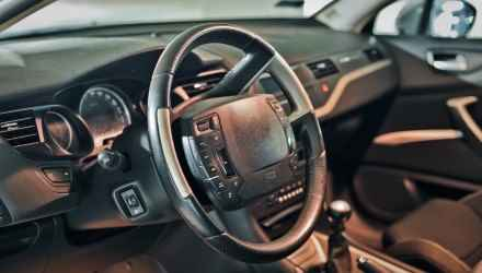 This is a view of Citroen C5 III interior view.