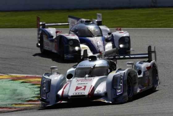 Audi R18 e-tron Quattro podczas wyścigu na Spa