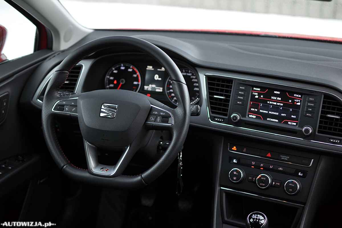 seat leon fr 1 4 tsi 150 km auto test motoryzacja. Black Bedroom Furniture Sets. Home Design Ideas